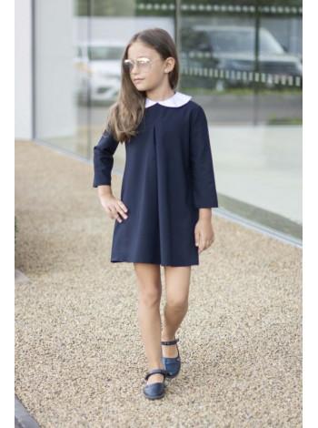 Модне шкільне плаття з білим коміром
