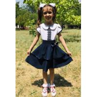 Красивая школьная юбка на резинке