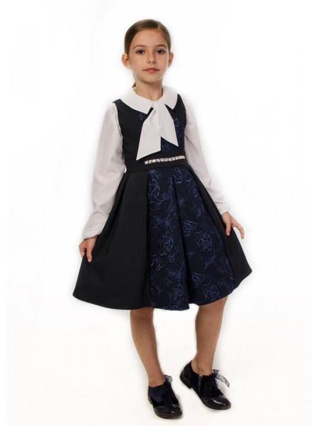 Красивый школьный сарафан с пышной юбкой