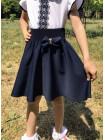 Шкільна пишна спідниця для дівчинки з бантиком