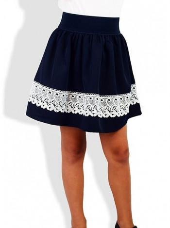 Синя шкільна спідниця для дівчинки