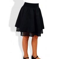 Школьная детская юбка на резинке для девочки