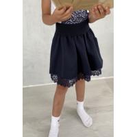 Шкільна дитяча спідниця на резинці для дівчинки