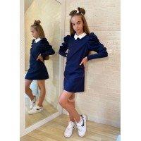 Шкільне плаття з білим коміром для дівчинки