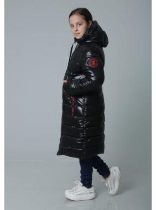 Длинная детская куртка для девочки зимняя
