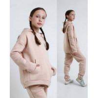 Дитячий теплий спортивний костюм на флісі для дівчинки