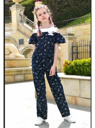 Модный летний костюм с кюлотами