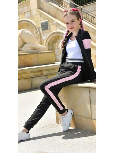 Модный спортивный костюм на змейке для девочки