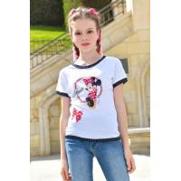 Дитяча літня футболка для дівчинки