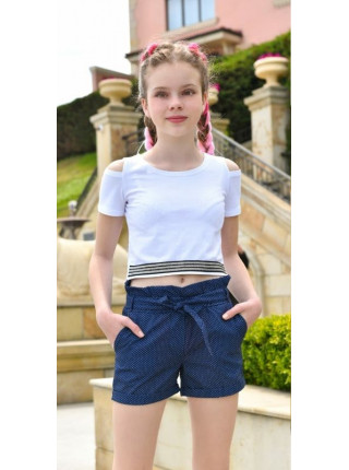 Короткі літні шорти для дівчинки