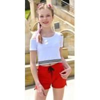 Летние короткие шорты для девочки