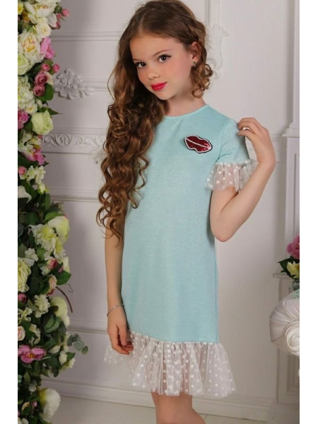 Дитяче нарядне плаття із воланом