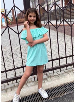 Платье с открытыми плечами для девочки