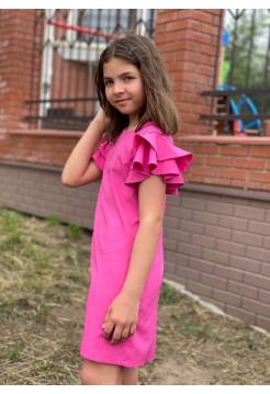 Літнє плаття для дівчинки з воланами на рукавах