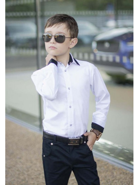 Рубашка на кнопках для мальчика