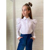 Белая рубашка для девочки