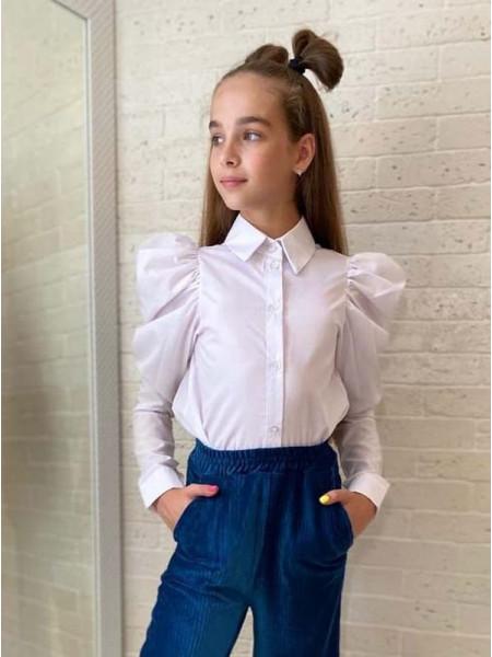 Біла рубашка для дівчинки