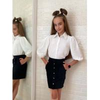 Рубашка на девочку в школу