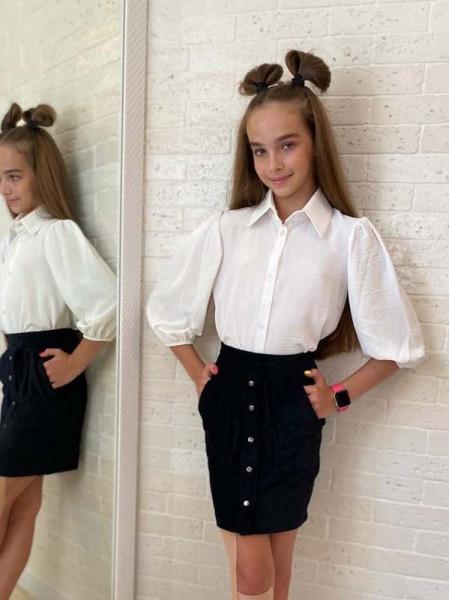 Рубашка на дівчинку в школу