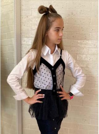 Рубашка з жилеткою для дівчинки