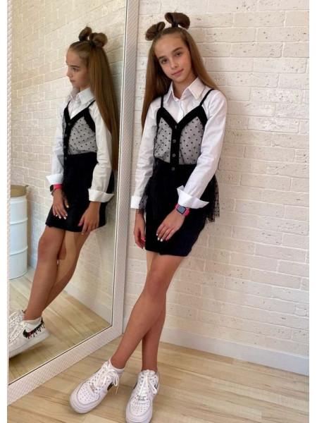 Рубашка с жилеткой для девочки