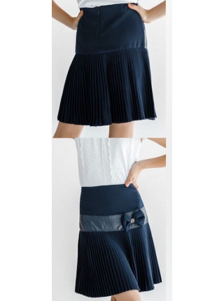 Синяя школьная юбка в складку