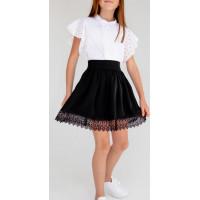 Школьная юбка с кружевом