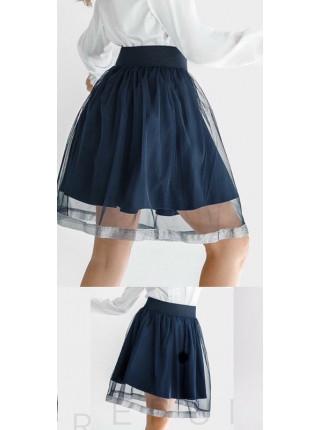 Детская пышная фатиновая юбка