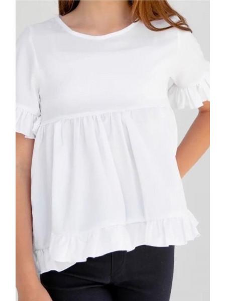 Детская блузка с коротким рукавом