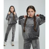 Дитячий велюровий спортивний костюм для дівчинки