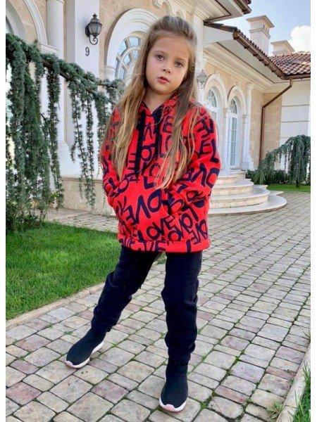 Трикотажный спортивный костюм на девочку