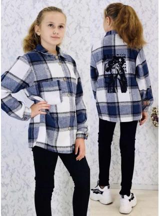 Сорочка в клітинку на дівчинку