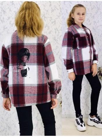Рубашка в клетку на девочку