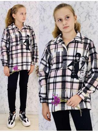 Рубашка в клітинку для підлітків