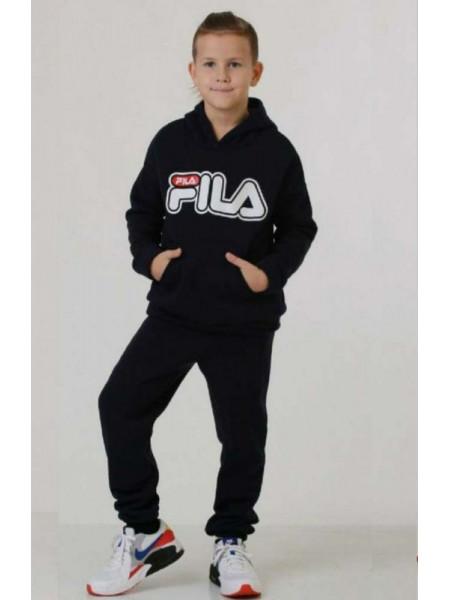 Теплый спортивный костюм на мальчика с принтом