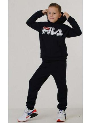 Теплий спортивний костюм на хлопчика з принтом