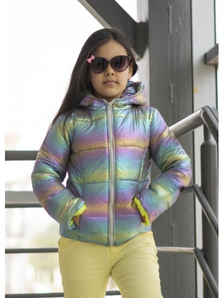 Блестящая куртка на девочку