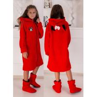 Дитячий махровий халат з чобітками