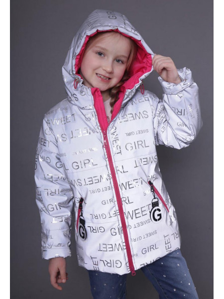 Светоотражающая куртка на девочку демисезон