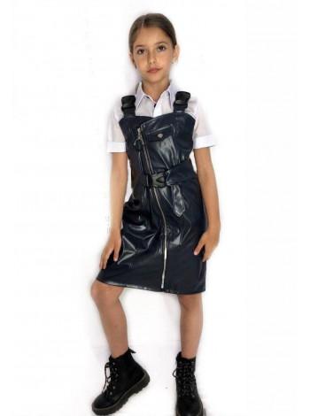 Детский кожаный сарафан