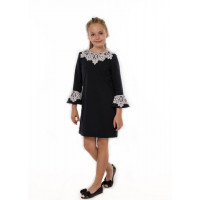 Шкільне плаття з мереживом