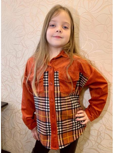 Картата сорочка на дівчинку