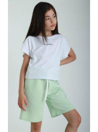 Літній костюм з шортами на дівчинку