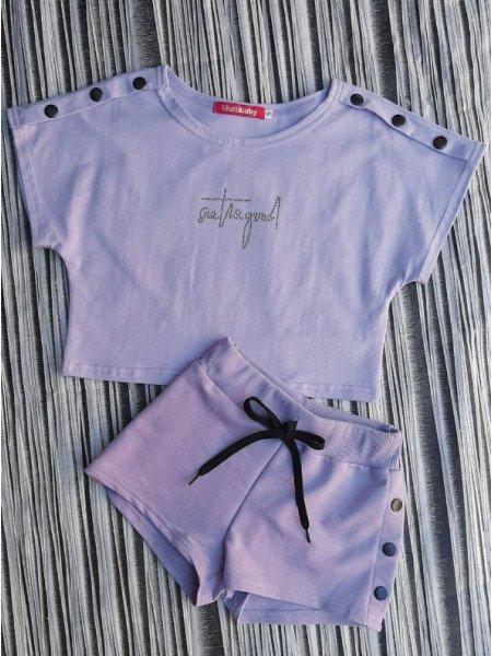 Дитячий костюм з шортами на дівчинку
