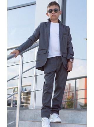 Серый школьный костюм для мальчика