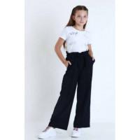 Широкие брюки школьные на девочку
