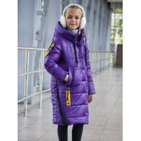 Зимова подовжена куртка на дівчинку