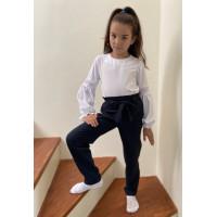 Шкільні штани на дівчинку: чорні та сині