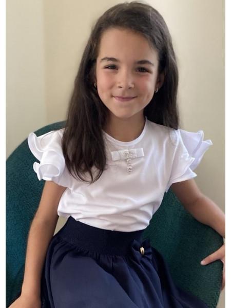 Белая блузка на девочку