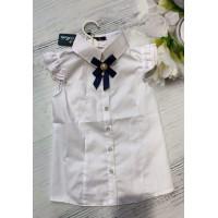 Блузка школьная нарядная с коротким рукавом